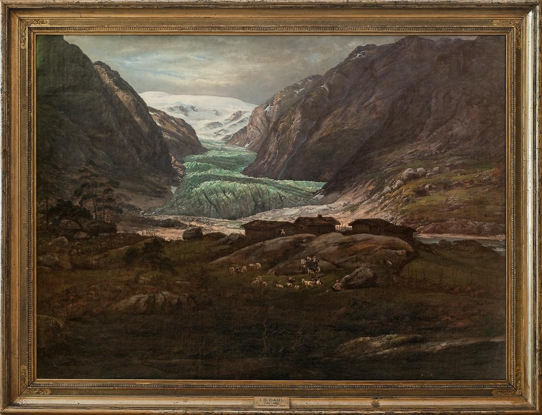 Nigardsbreen, Johan Christian Dahl, 1844
