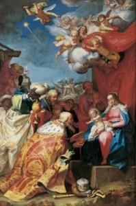 Aanbidding van de 3 koningen Abraham Bloemaert