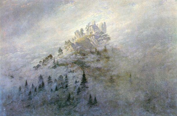 Morgennebel im Gebirge Caspar David Friedrich