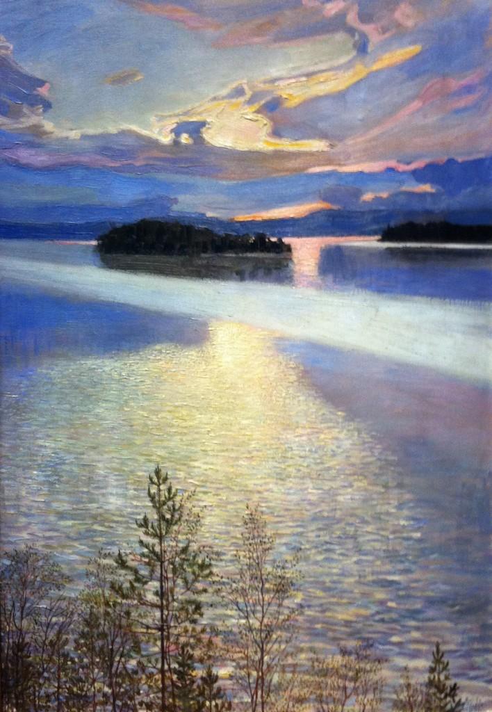 Gezicht op een meer Akseli Gallen-Kallela