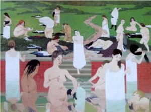 Het bad - zomeravond, Félix Vallotton, 1892