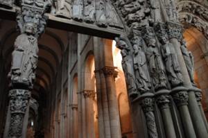 Interieur kathedraal Santiago de Compostella