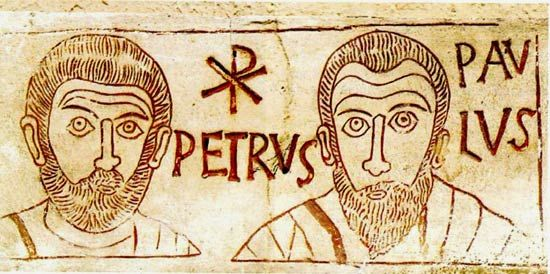 Petrus en Paulus, 4e eeuw