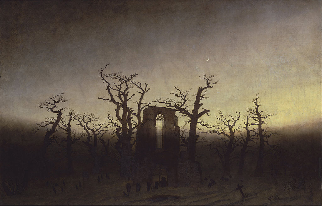 Abbey among oak trees, Caspar David Friedrich, 1809/1810