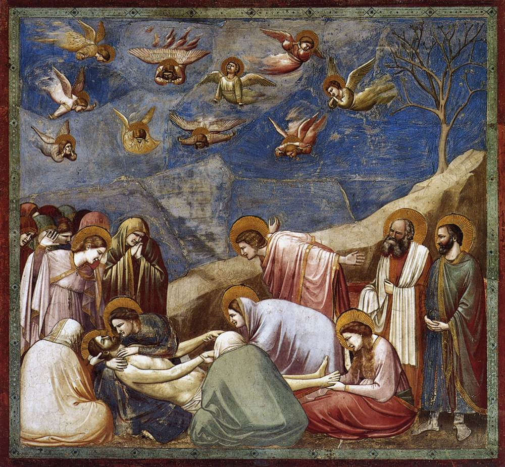 De bewening van Christus, Giotto, 1304-1313, Scrovegni kapel, Padua