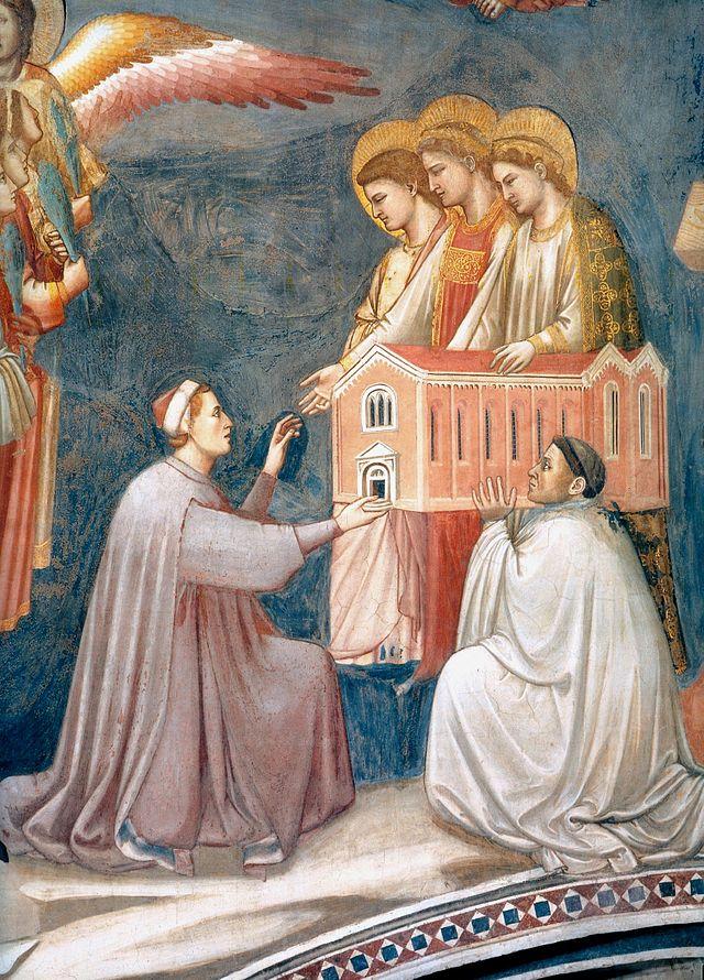 Fragment Het laatste oordeel, Giotto, 1303-1305