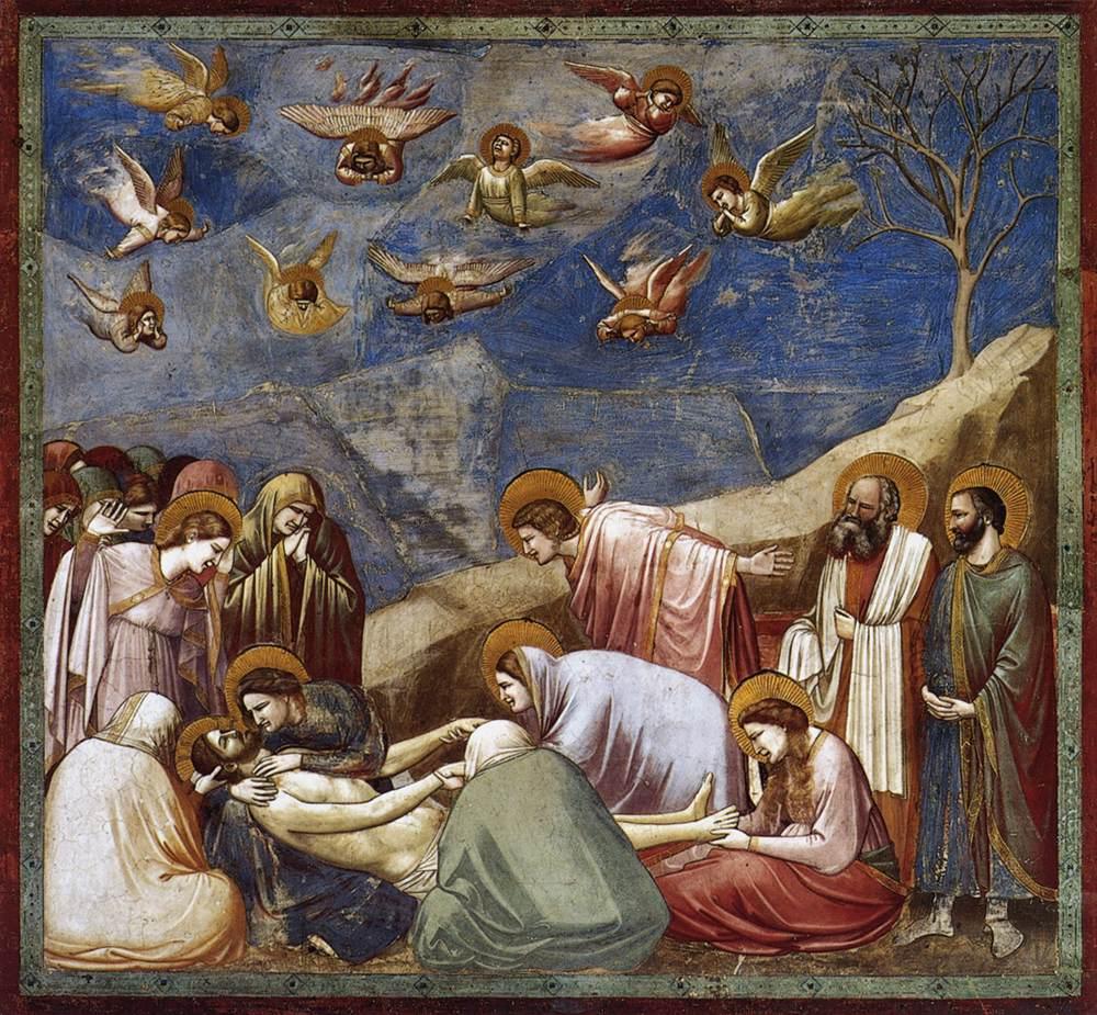 De bewening, Giotto, 1303-1305