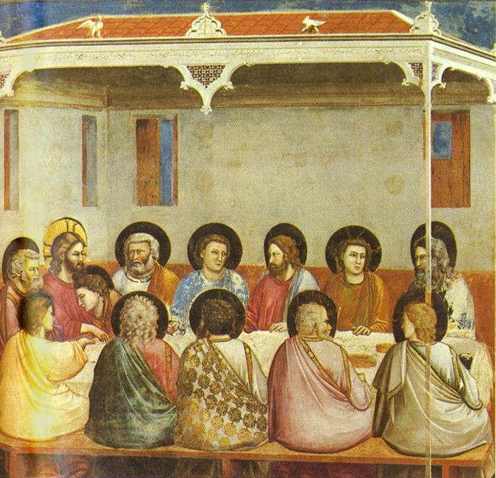 Het laatste avondmaal, Capella Scrovegni, Giotto, 1303-1305