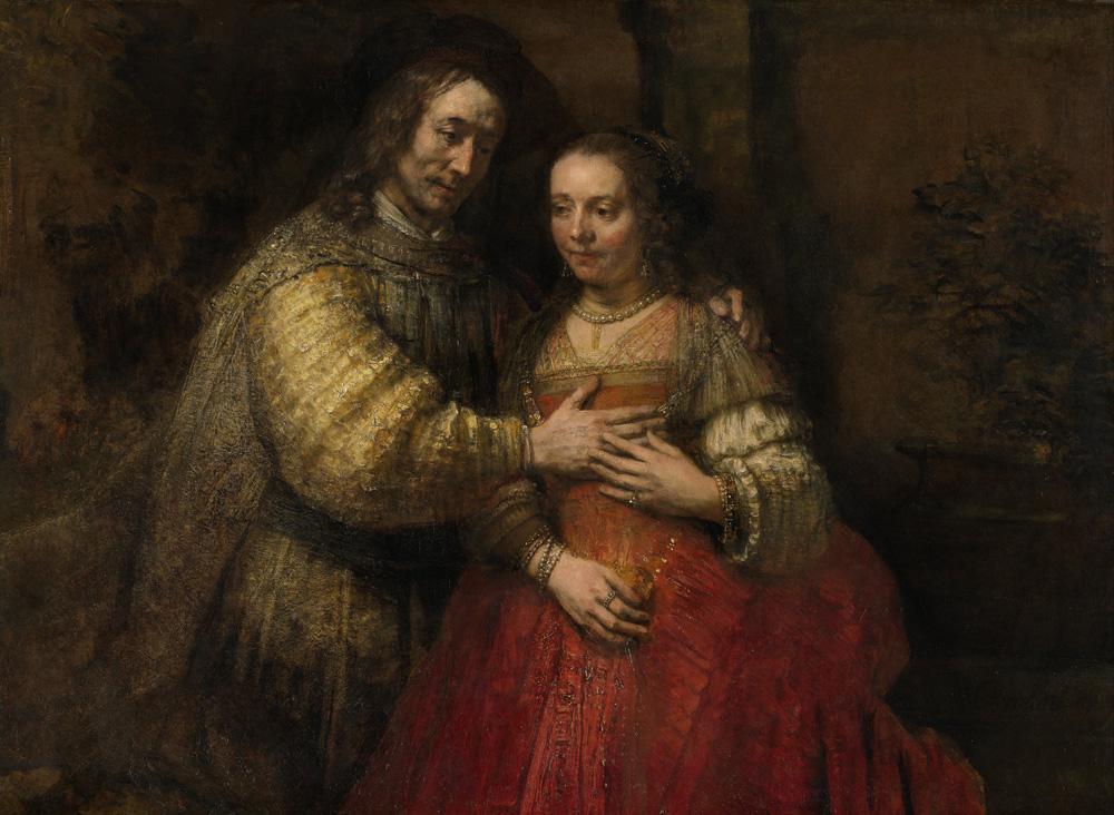 Het Joodse bruidje, Rembrandt Harmensz van Rijn, ca_1665-1669,Rijksmuseum