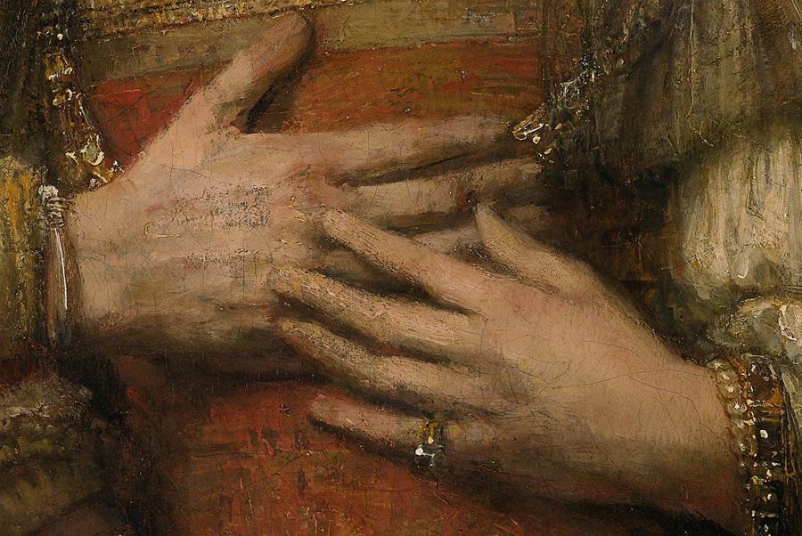 Het_Joodse bruidje, Rembrandt Harmensz van Rijn, c_1665-1669, Rijksmuseum, detail