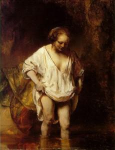 Badende vrouw Rembrandt