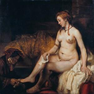 Bathsheba met David's brief, Rembrandt, ca. 1654
