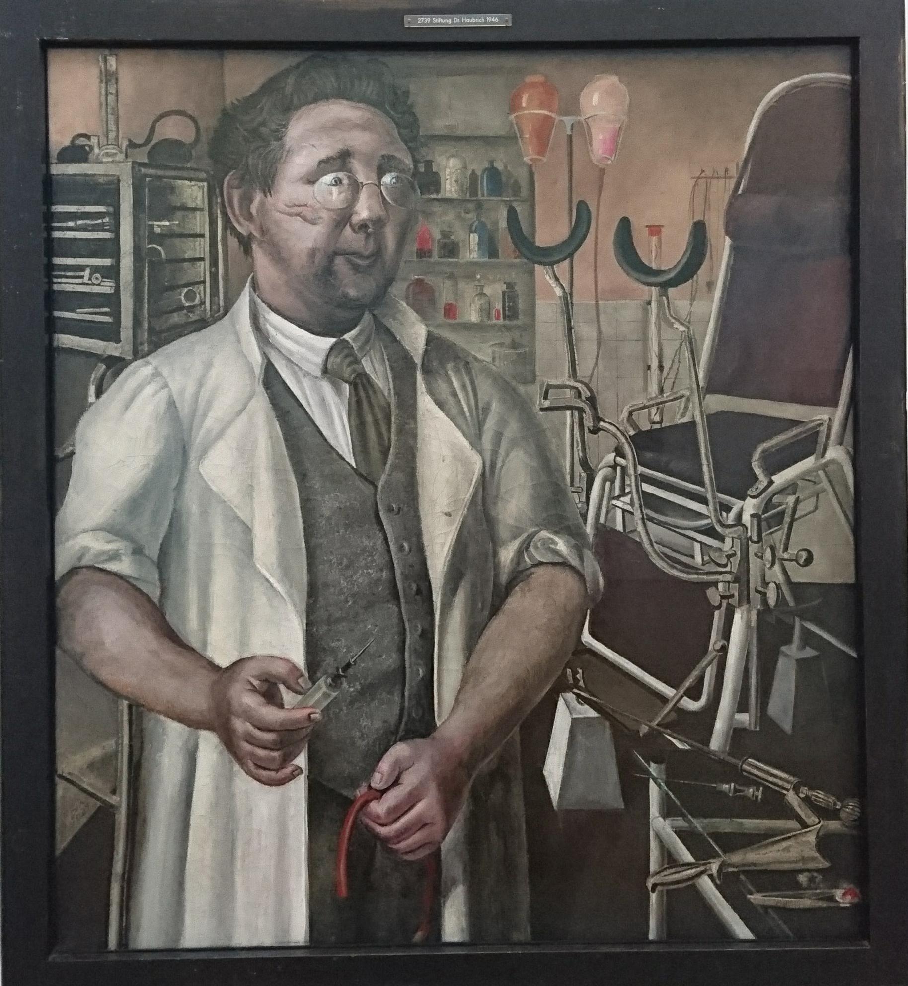 Portret van Dr. Hans Koch, Otto Dix, 1921